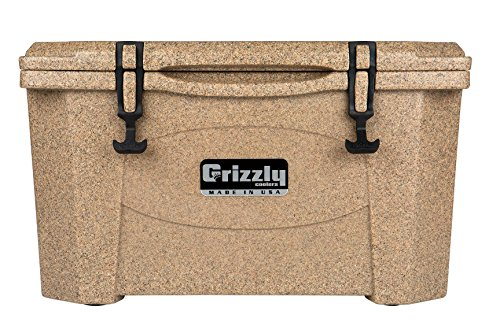 Grizzly Coolers 40 Quart Rotomolded Cooler, Sandstone