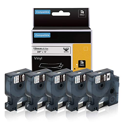 5-Pack Replace DYMO Rhino Industrial 3/4