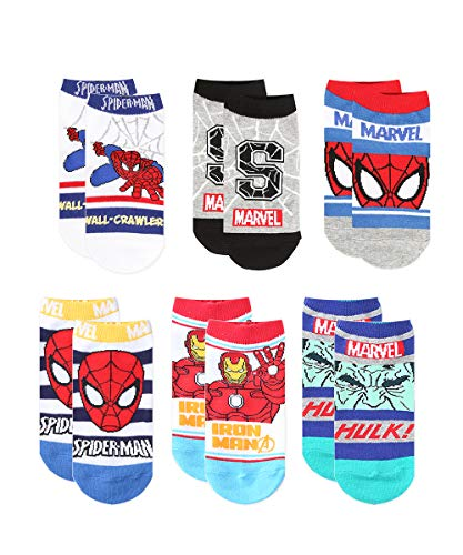 6 Pairs Premium No Show Socks for Boys (3(4-6 years old))