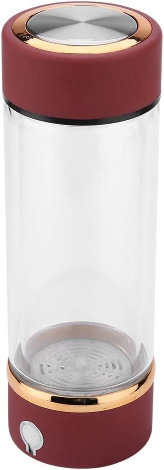 Botella de Agua de hidrógeno de 420ML Botella de ionizador de Agua de generador de hidrógeno portátil USB USB para Viajes de Deportes al Aire Libre