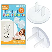 Baby Safety Outlet Plug Covers, Cover Socket Completely, Not Easy to Remove for Children,Clear Child Socket Protection