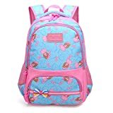 Ladyzone Camo School Backpack Lightweight Schoolbag Travel Camp Outdoor Daypack Bookbag for Your Children (Light Blue)