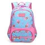 Ladyzone Camo School Backpack Lightweight Schoolbag Travel Camp Outdoor Daypack Bookbag for Your Children (Light Blue)