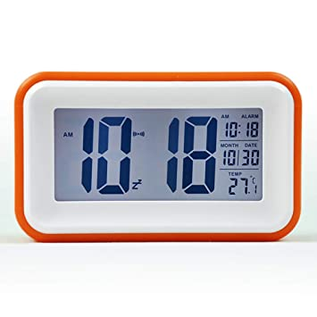 Amazon.com: Aich Digital Alarm Clock,Snooze Desk Clock with ...