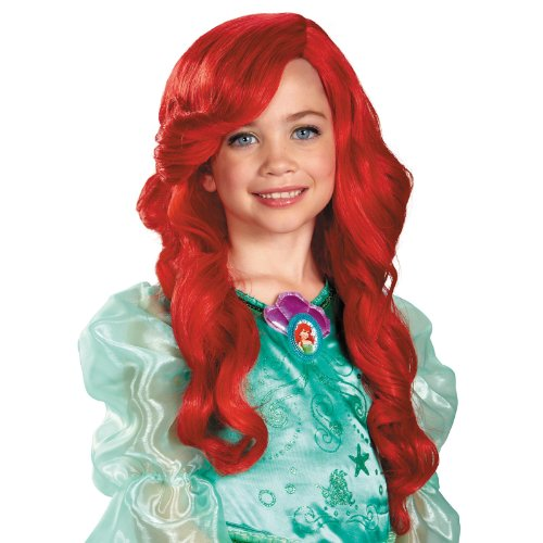 Disney Princess Wig - Choose from 2 Styles - #1 Quality Disney Wig for Children and Adults (Little Mermaid)