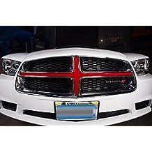 Dodge Charger 2010-2014 Grille Insert Graphics Kit 3M Vinyl Wrap - Dark Red