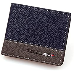 JD Million shop Hot 2017 New Designer Brand Business Black Leather Men Wallets Short Purse Card Holder Fashion carteira masculina couro Ulrica