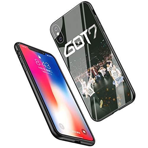 LiangChu 9H Tempered Glass iPhone XR Cases, LC-164 GOT7 JB Mark Jackson Bambam Design Printing Shockproof Anti-Scratch Soft Silicone TPU Cover Phone Case for Apple iPhone XR