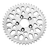 MESH POLISHED STAINLESS STEEL REAR SPROCKET FOR HARLEY DAVIDSON AND CUSTOM MOTORCYCLES, 48 TOOTH