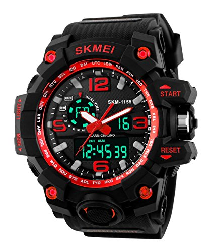 SKMEI Analog Digital Round Dial Men's Watch- Series1155
