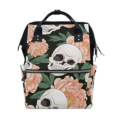 Gothic Seamless Pattern With Skull Diaper Bags Mummy Backpack Nappy Nursing Bag for Baby Care