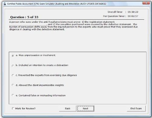 CPA Exam Simulation Software