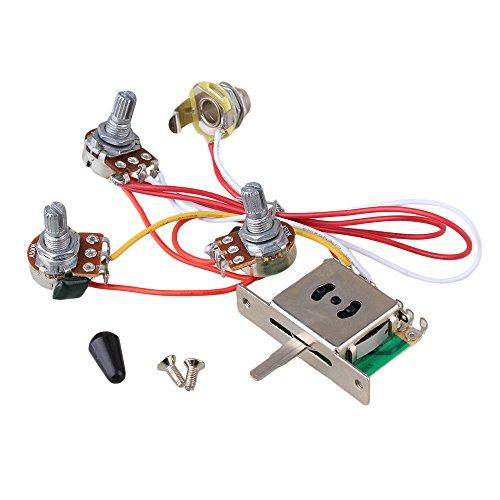 BQLZR Guitar Wiring Harness Prewired 047 Cap 3-500k Pots 5 Way Switch