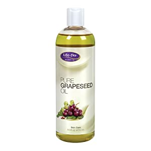 Life-Flo Pure Grapeseed Oil | For Skin & Hair, Aromatherapy, Massage Therapy | Food Grade | 16 fl. Oz.