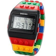 SHHORS Candy Rubber Digital Stopwatch Waterproof Men's Ladies Sport Watch LED092