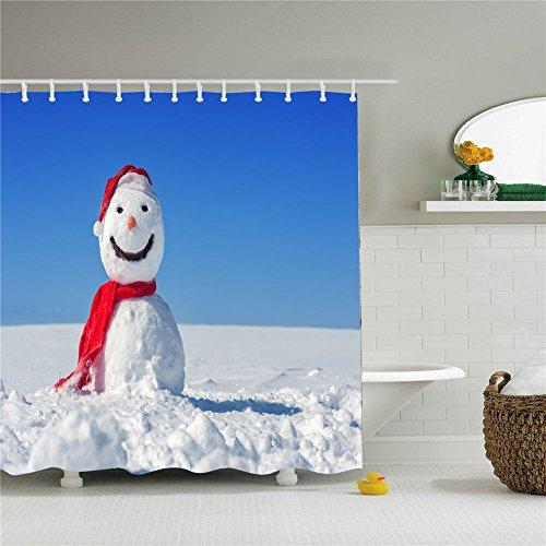 Shower Curtain Woodland Colorful Christmas Snowman Decors Mildew Resistant Waterproof / Water-Repellent and Antibacterial 66x72 - Macys Woodlands