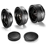 Neewer 13-21-31mm AF Auto Focus ABS Macro Extension Tube Set for Canon DSLR Cameras Such as 5D Mark II III, 1D Mark II III IV,7D 10D 20D 30D 40D 50D 300D 350D 400D 500D 550D 700D