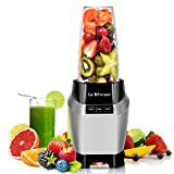 La Reveuse Professional Countertop Blender Making Shakes and Smoothies 1000 Watt-with 24 oz BPA Free Portable Travel Bottle - Dishwasher Safe