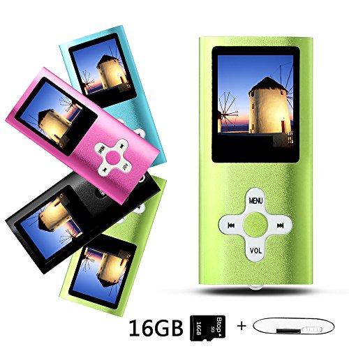 Btopllc Lecteurs MP3 16 Go Lecteurs MP3 MP4 Lecteur MP3 / MP4 Entrée audio numérique Musique compacte Musique Hi-Fi Lecteur MP3 Lecteur multimédia