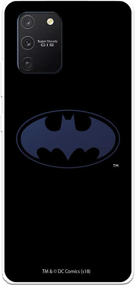 Funda para Samsung Galaxy A91 - S10 Lite Oficial de DC Comics Batman Logo Transparente para Proteger tu móvil. Carcasa para Samsung de Silicona Flexible con Licencia Oficial de DC Comics.