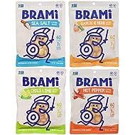BRAMI Lupini Bean Snack, Starter Pack | Plant Protein, Vegan, Gluten-Free, Low Calorie, Zero Net Carb, Keto, Lightly Pickled, Mediterranean Legume |Pack of 4, 5.3 oz (150g)