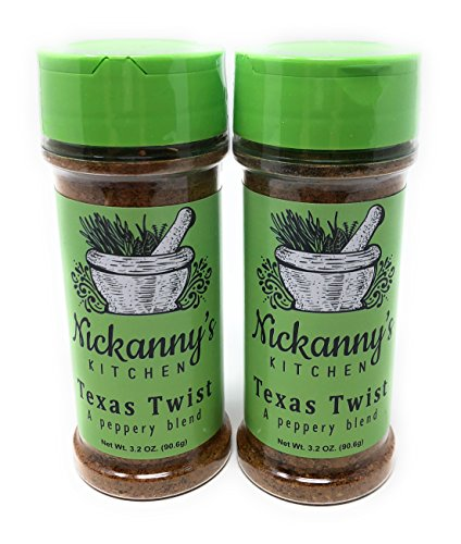 Jalapeno Rub (Nickanny's Kitchen Texas Twist Four Pepper Salt-Free Seasoning-Gluten Free-Sugar Free- - Low Potassium and Low Phosphorus-100% Pure Spice, No Fillers-3.2 oz Each (2))