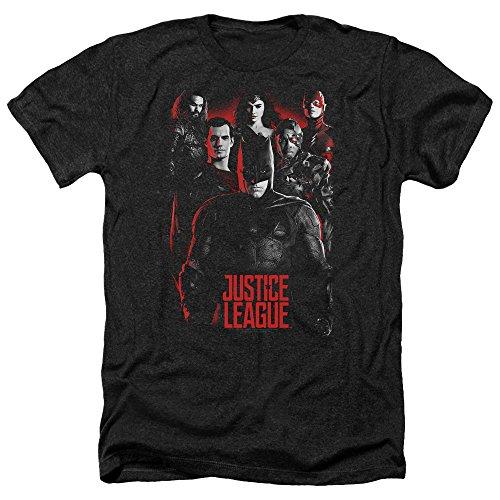 justice+league Products : Justice League Movie The League-Adult Heather-Black