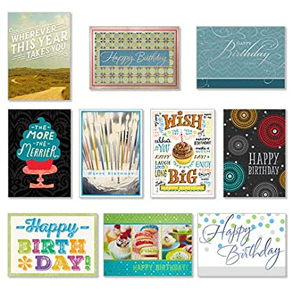 Amazon Hallmark Business Birthday 50 Pack Assorted Cards For