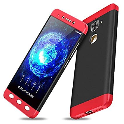 cheaper 0f678 4a073 ikazen GKK Double Dip Full Protection 360 Degree Back Cover Case for LeEco  Le 2 -(Black and Red)