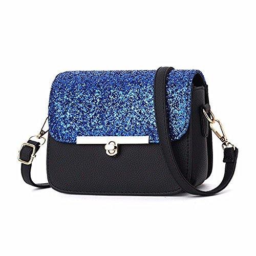con borsa blu borsa a tracolla a tracolla Battier 2019 chiusura a borsa Nuova Piccola sospensione piccola con grigio OwUgIq
