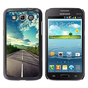 Caucho caso de Shell duro de la cubierta de accesorios de protección BY RAYDREAMMM - Samsung Galaxy Win I8550 I8552 Grand Quattro - Open Road Freedom Sky Drive Summer