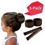 Brown Magic Bun Maker 3 pack, Hawwwy Mini Buns, Perfect Small Hair Bun Maker Maker Kids, Thin Hair Girls Women, Easy Bun Hair, Smaller Bun, Donut Hair, Ballet Bun Maker, Cute Bun Hair Tool