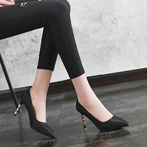 Mme 7cm Élégant Hauts Taille De uk4 Talon Jeune cn36 Beau Xuerui Talons Noir Stilettos Eu36 Noir Escarpins Fit couleur CPwqp5x5