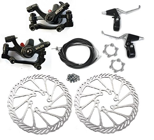 Bike Mechanical Disc Brake - BlueSunshine BB8 Front and Back Disk Brake Kit - 160mm For 80cc Gas Motorized Bicycle (BB8 Disk Brake Kit - G3 - 3)