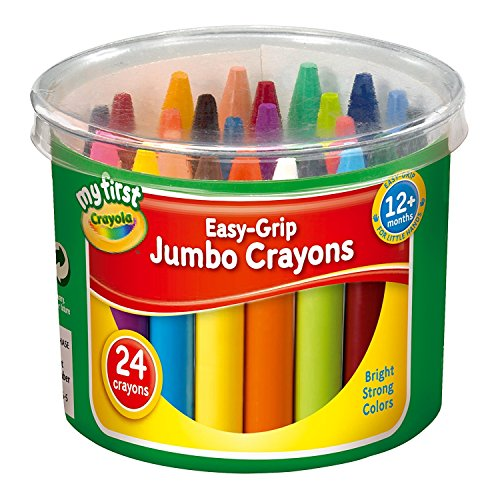 (Crayola My First Easy Grip Jumbo Crayons Designed for Toddlers, Pack of 24)