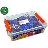 EDMA - Cale fourchette polyéthylène haute de 1 à 5mm - 500 pièces - 188255