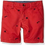 Gymboree Little Boys' Woven Chino Short, Skateboard Embroidered, 8