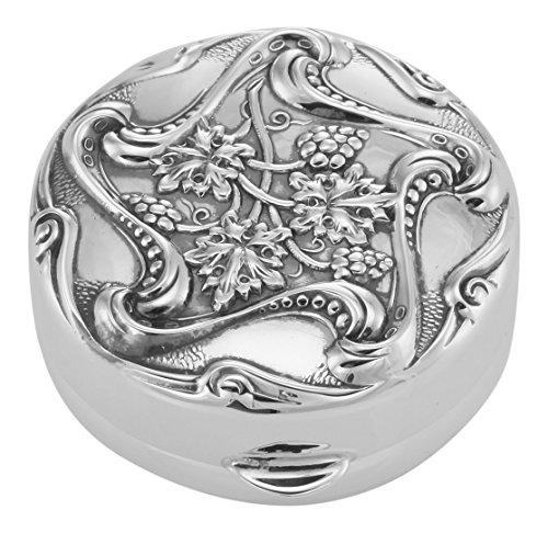 (Vintage Art Nouveau Style Pillbox - In Fine Sterling Silver)
