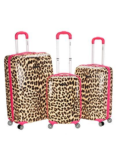 Rockland® 3-pc. Leopard Polycarbonate Upright Luggage Se