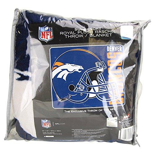 Northwest Denver Broncos Soft Blanket - Denver Broncos Super Soft 50 by 60 inch Blanket Throw NFL Licensed by Northwest