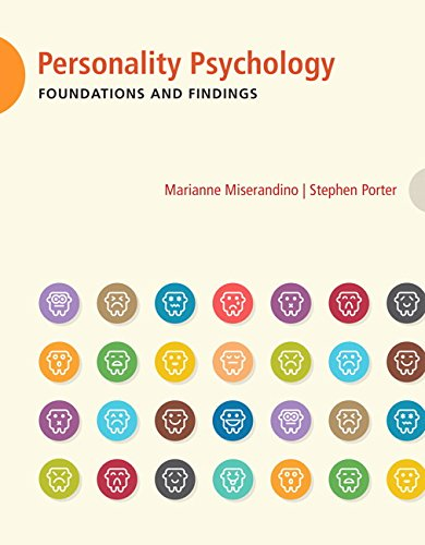 Personality Psychology: Foundation and Findings - Candian Edition