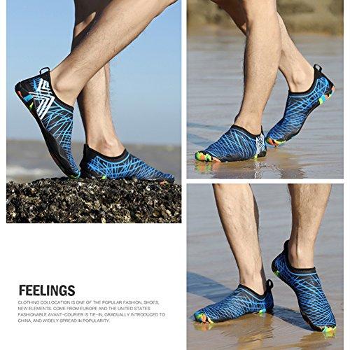 SAGUARO® Unisex Nuotare Scarpe Blu Yoga Shoes Antiscivolo Aqua New Donna da Asciugatura Traspirante Surf Spiaggia Rapida Water Estate Uomo rA0drnFWvq