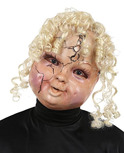 Mario Chiodo Women's Horror Creepy Carrie Doll Face Mask Halloween Costume Accessory]()
