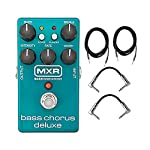 Dunlop MXR M83 Bass Chorus Deluxe With a Pair of Patch Cables and Instrument Cables by Dunlop