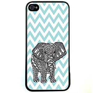Change Blue Chevron Elephant iphone 6 4.7 Case For iPhone 6 4.7 (Fashion design-1)