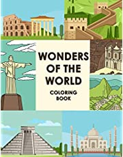 Wonders Of The World Coloring Book: Let's Fun Famous Landmarks Book Travel Coloring Books For Children Wonders Of The World