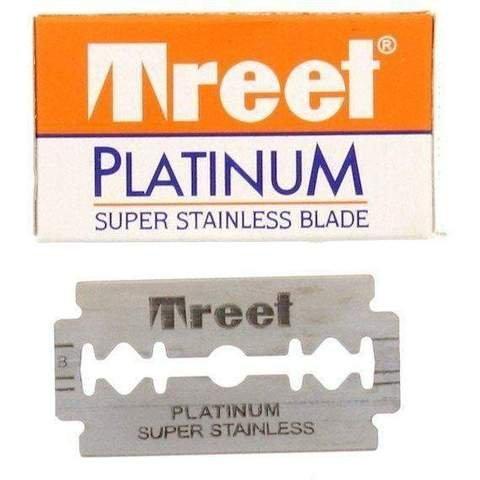 Treet Platinum Super Stainless Double Edge Razor Blades, 5-pak