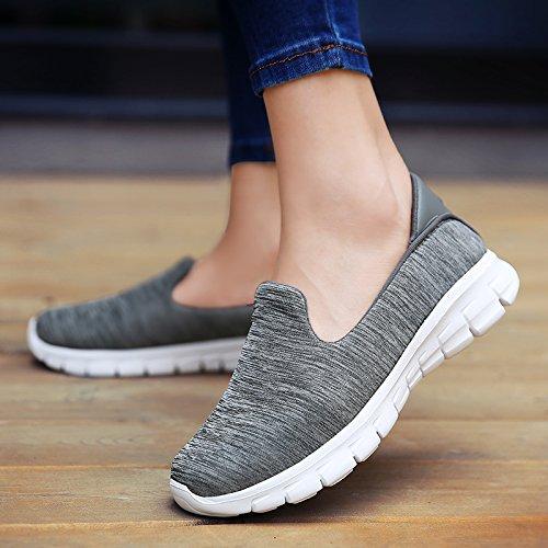 Zapatos Dark Mamá Zapatos Edad Malla Mediana Zapatos Zapatos de Hasag Casuales Fondo de Zapatos Tela para de de Mujeres Deportivos Suave gray de Zapatos de Malla Transpirable qf1w46