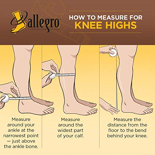 Allegro 20-30 mmHg Essential 18 Sheer Support Knee High Compression Sock by Allegro Compression Hosiery (Image #3)