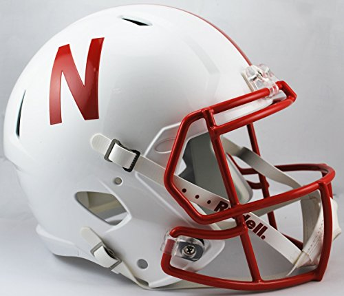 NCAA Nebraska Cornhuskers Full Size Speed Replica Helmet, Red, Medium by Riddell